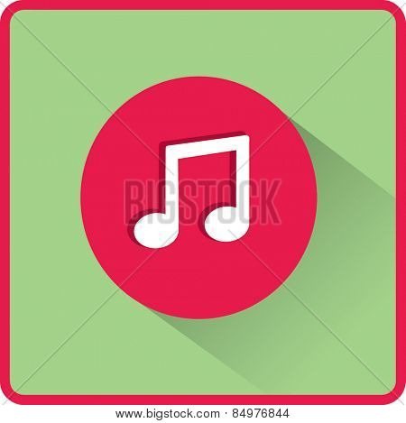 Stock Vector Illustration.  Flat Vector Note icon