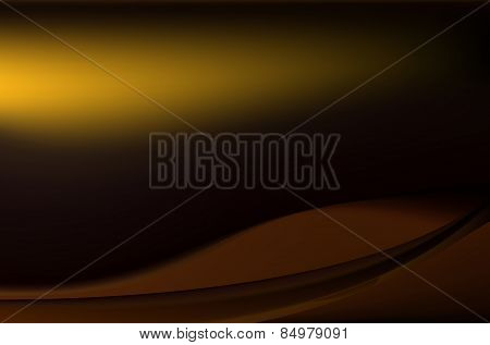 Dark Chocolate Brown Background With Soft Folds