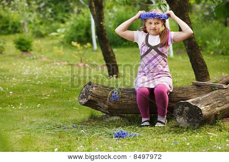 Little Girl With Blue Chaplet