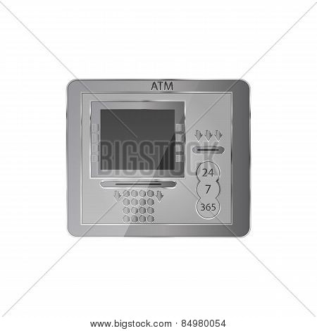 Atm Icon, Vector Illustration