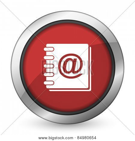 address book red icon
