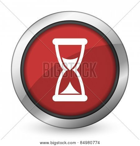 time red icon hourglass sign