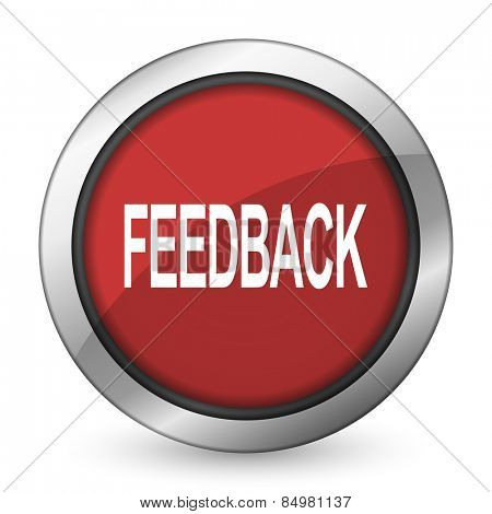feedback red icon