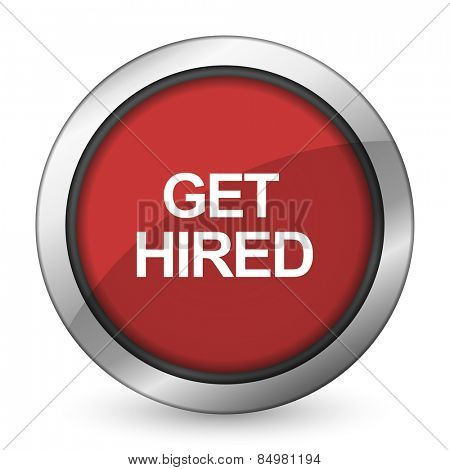 get hired red icon