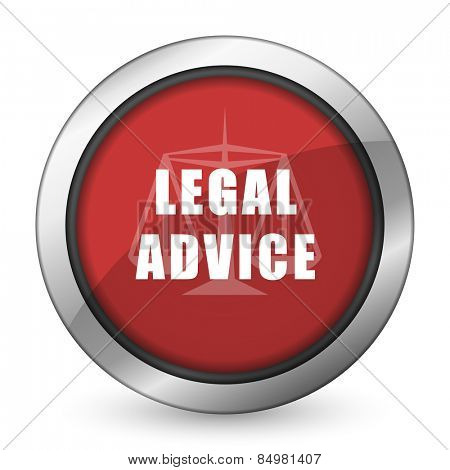 legal advice red icon law sign