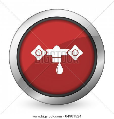 water red icon hydraulics sign