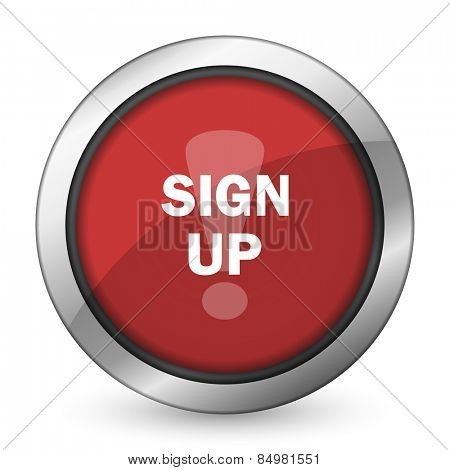 sign up red icon