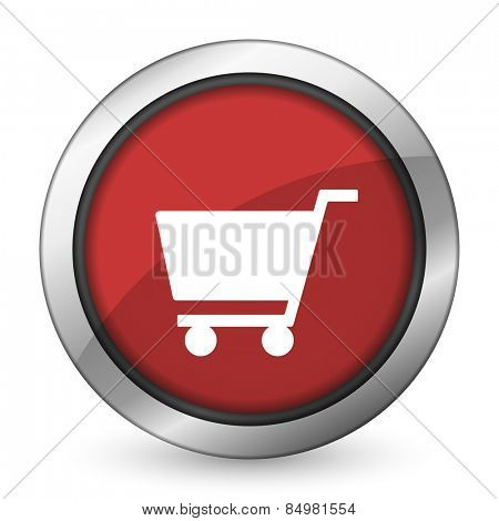 cart red icon shop sign