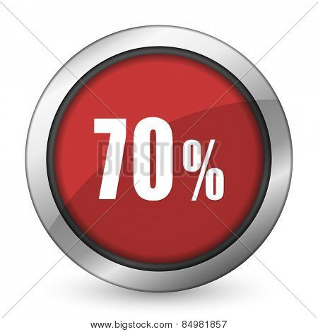 70 percent red icon sale sign