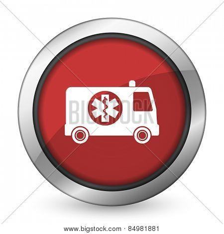 ambulance red icon