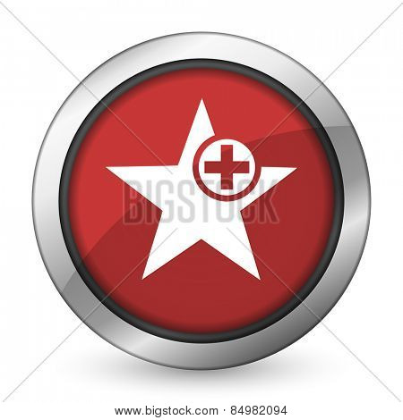 star red icon add favourite sign