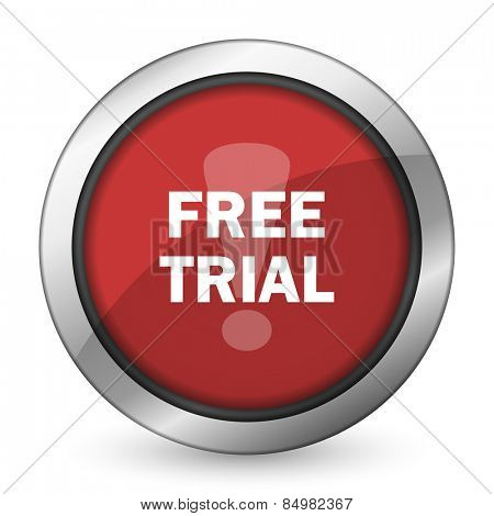 free trial red icon