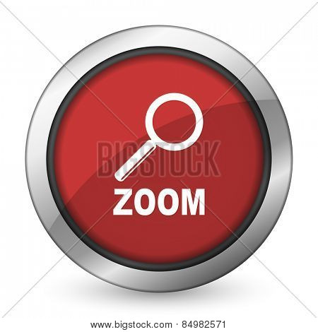 zoom red icon