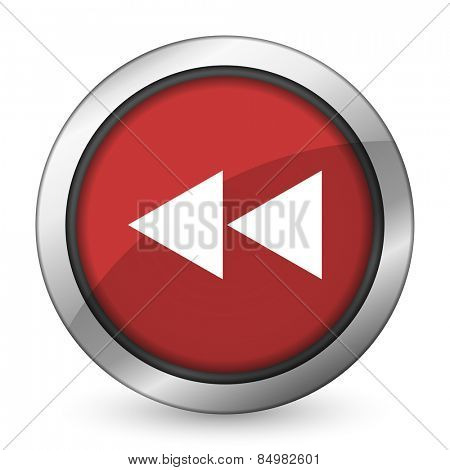 rewind red icon