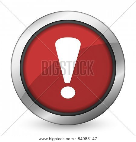 exclamation sign red icon warning sign