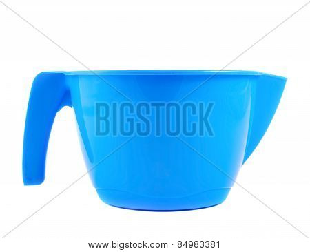 Plastic measuring cup isolated