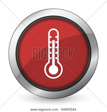 thermometer red icon temperature sign