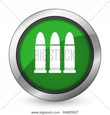ammunition green icon weapoon sign