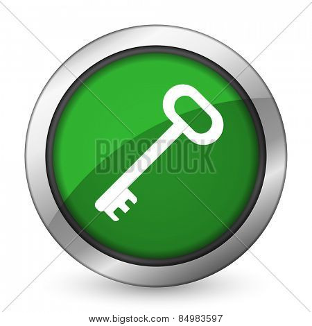 key green icon secure symbol