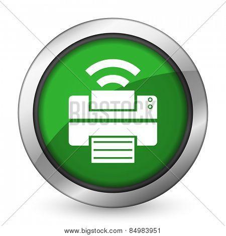 printer green icon wireless print sign