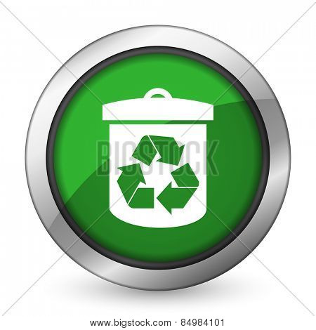 recycle green icon recycling sign
