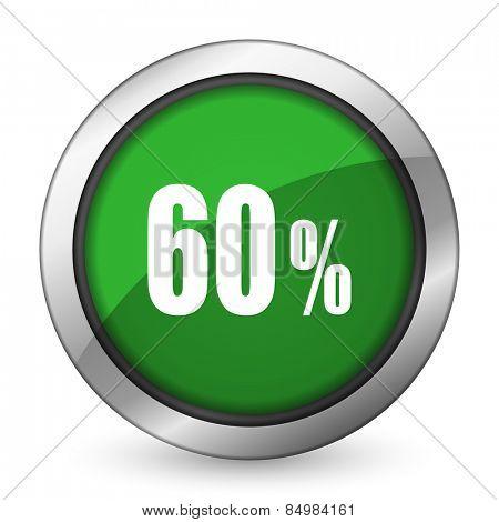 60 percent green icon sale sign