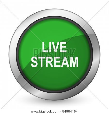 live stream green icon
