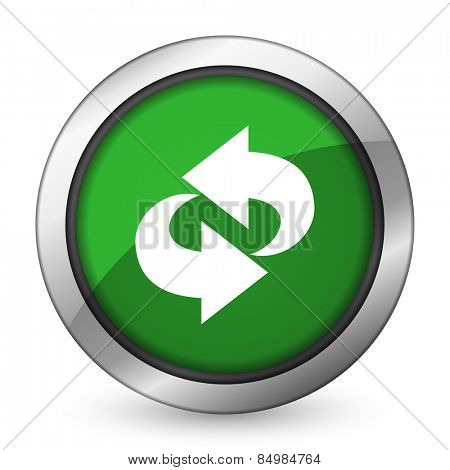 rotation green icon refresh sign