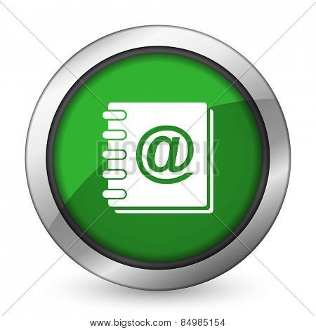 address book green icon