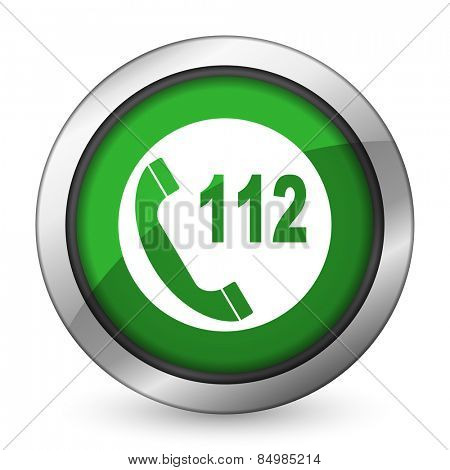emergency call green icon 112 call sign