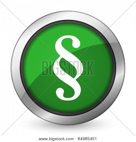 paragraph green icon law sign