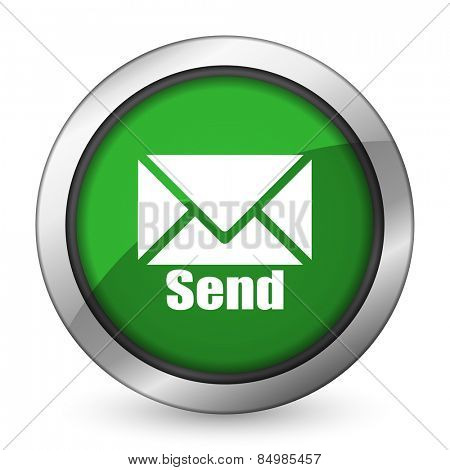send green icon post sign