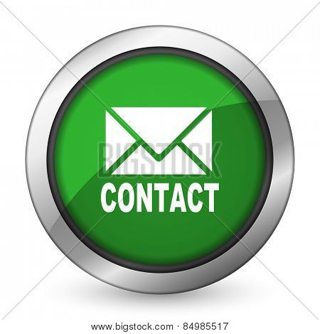 email green icon contact sign