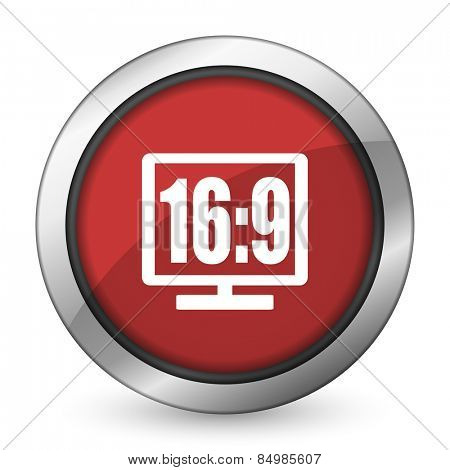 16 9 display red icon