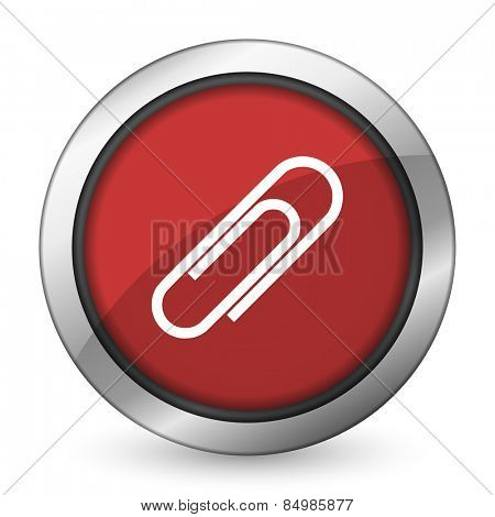 paperclip red icon