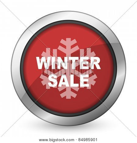 winter sale red icon