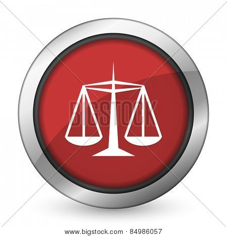 justice red icon law sign