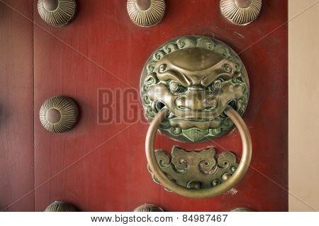 Lion Temple Door