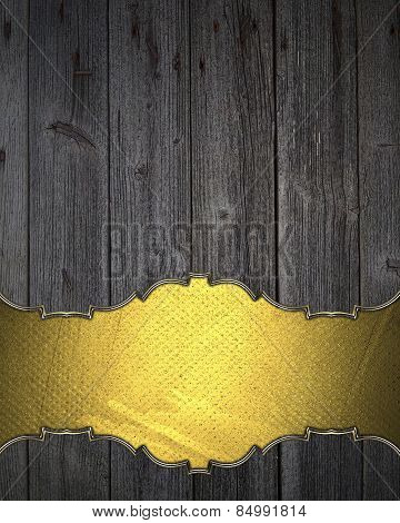 Wooden Texture With Space For Writing. Template Design.