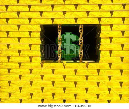 Dólar en jaula de oro