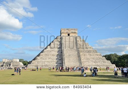 CHICHEN ITZA, MEXICO -DECEMBER 10,2014.