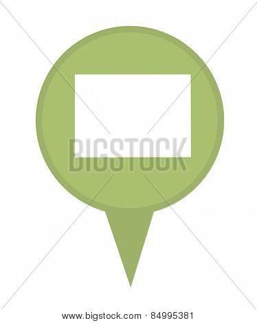 American state of Colorado marker pin isolated on a white background.