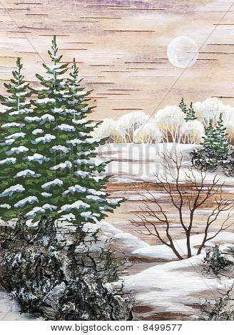 The Siberian Winter Lake