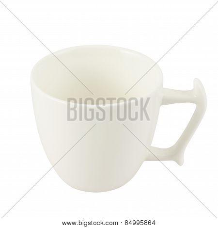 White ceramic tea cup isolated