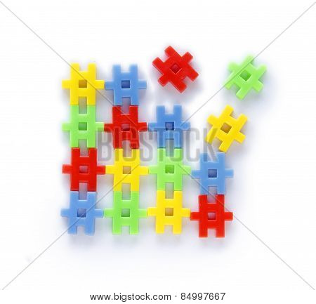 Colourful Of Construction Toys
