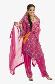 picture of salwar  - Portrait of a woman in salwar kameez - JPG