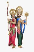 picture of ravana  - Two stage artists dressed - JPG