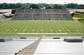 stock photo of ncaa  - High school football stadium showing entire field - JPG