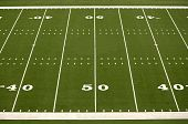 image of football field  - Empty American football field showing 40 and 50 yard lines - JPG