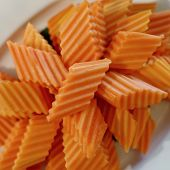 pic of papaya fruit  - peeled delicious papaya fruit on buffet line - JPG